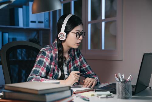 Chinese Girl Listening