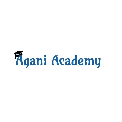 Agani Academy 500×500 Blue & Black w-o-Tagline Text